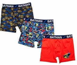 BATMAN DC COMIC SUPERHERO 3-Pack Boxer Briefs Underwear NWT Boys Sizes 4... - $11.99