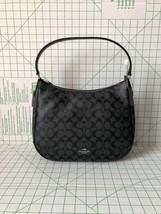 Coach F29209 Zip Shoulder Bag in Signature Coated Canvas Smoke Black/Black - $91.00