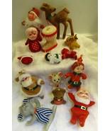Flocked Santa and Reindeer - $15.00
