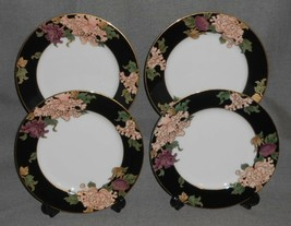 Set (4) Fitz & Floyd CLOISONNE PEONY PATTERN Salad Plates MADE IN  JAPAN - $79.19