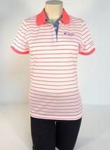 Columbia Sportswear Pink & White Mesh Short Sleeve Polo Shirt Women NWT - $37.49