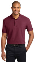 Port Authority TLK510 Tall Stain-Resistant Polo Shirt - Burgundy - $17.98+