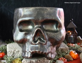 WILLIAMS-SONOMA SKULL PUNCH BOWL -NIB- THE BRAINS BEHIND YOUR SCARY PART... - $129.95