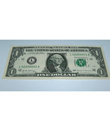 2017 $1 Dollar Bill US Bank Note Low # Even Center Pairs 02200441 Fancy ... - $14.98