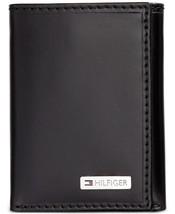 Tommy Hilfiger Men's Leather Credit Card Id Wallet Trifold Black 31TL110005