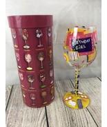 """LOLITA LOVE MY WINE """"BIRTHDAY GIRL"""" HAND PAINTED WINE GLASS in ORIGINAL BOX - $14.80"""