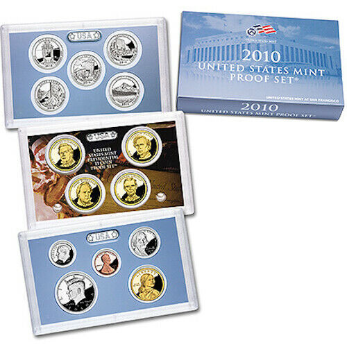 2010 Silver Proof and Clad Proof Set US Mint sets Original Mint Packaging CP3671