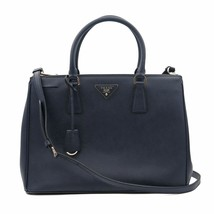 Prada Galleria Saffiano Lux Baltico Leather Silver Hardware Medium Tote Bag - $1,895.99