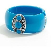 Apt. 9 Hinge Cuff Bracelet Blue Filigree Fashion Jewelry - $17.99