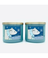 Bath and Body Works Flannel 3-Wick Candle Set of Two 14.5 oz Each - $51.89