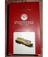 HALLMARK LTD ED 2020 LIONEL 2348 MINNEAPOLIS & ST LOUIS GP-9 GOLD DIESEL... - $49.95