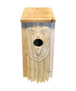 Welliver Outdoors Natural Welliver Carved Bluebird House Owl  044434300220 - $50.27