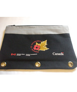 Collectors Pencil Case Veteran's Affairs Canada Black For 3 Ring Binder - $7.92