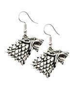 "STARK WOLF EARRINGS 1.5"" Game of Thrones Drop Dangle Stainless Steel Ear... - $6.95"