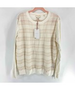 Ted Baker White Pink plaid Front Sweater NWT Womens 12 MSRP 195$ - $100.00