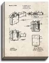 Pocket Lighter Patent Print Old Look on Canvas - $39.95+