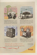 Vintage 1963 AD Print Kodak Cameras Gifts for Christmas Four Types - $9.49