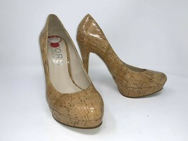 Kors Michael Kors Cyprien Pumps Heels Shoes Natural Cork sz 7 Platforms ... - $49.49