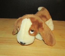Ty Beanie Buddy Tracker Dog Puppy Plush White Brown Basset Hound buddies... - $7.91