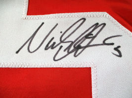 NICKLAS LIDSTROM / AUTOGRAPHED DETROIT RED WINGS CUSTOM HOCKEY JERSEY / COA image 4