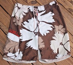 Billabong Size 32 Board Shorts Swimsuit Surfing Men's Brown & Cream Flor... - $18.99
