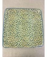 Animal Spot Grospoint Epingle Pillow Cover Blue with Velvet Reverse  - $66.50