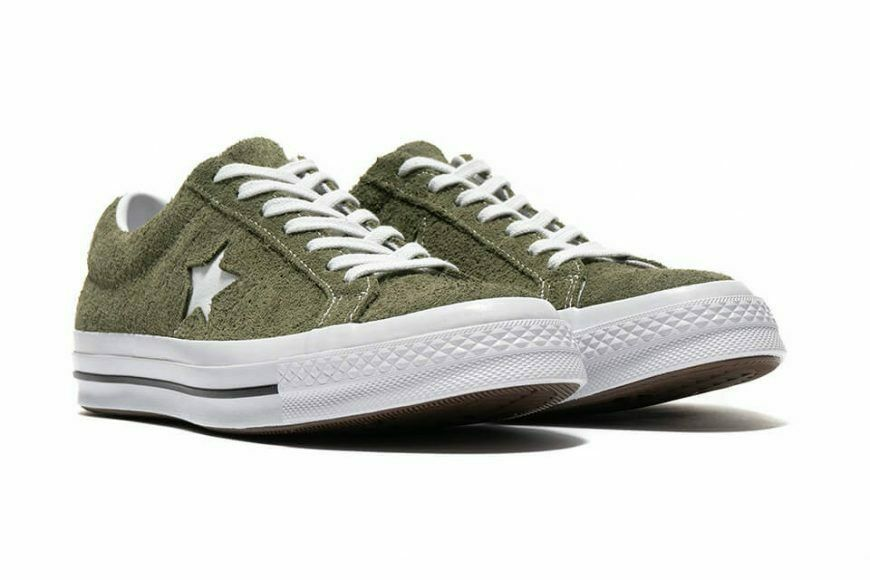 Converse Mens One Star Ox Suede 161576C Field Surplus (Olive) / White Size 9