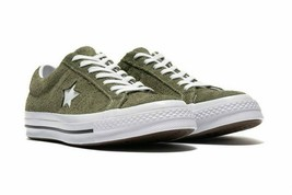 Converse Mens One Star Ox Suede 161576C Field Surplus (Olive) / White Size 9 image 1