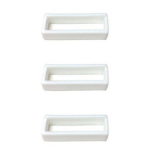 18mm 20mm 22mm 24mm 26mm 28mm White Rubber Watch Band Loop - 3 Pieces - $8.99