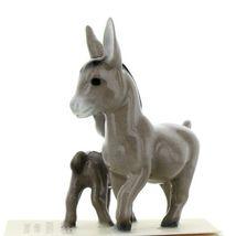 Hagen Renaker Miniature Farm Burro Donkey Mama and Baby Ceramic Figurine Set image 3