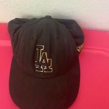 New Era Solid Black Adjustable Hat Size 7 3/8 - $79.16