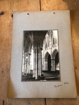 ANTIQUE/VINTAGE PHOTO OF PERSHORE ABBEY IN WORCS (ENGLAND) A4-SIZED - $6.36