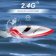 Quaslover Remote Control Boat Toy for Kids RC Boat 2.4GHz High Speed RC ... - $32.30