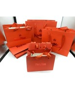 34-Lot Med-Men Merchandise Bags Red w/ Ribbon Handles Recycle 4 sizes - $21.99