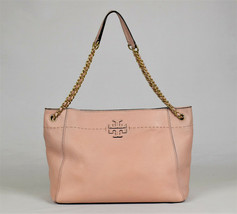 Tory Burch Mcgraw Chain Slouchy Shoulde Bag - Pink (Retail $498) - $157.41