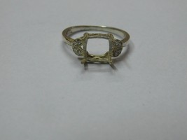 925 sterling Silver mount Ring,Cushion 8.0 mm, RI-0105,ring,all size ava... - $8.80