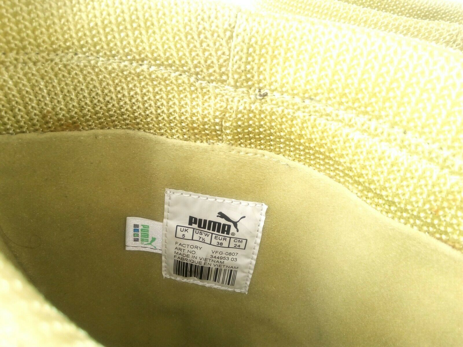 Puma Women's Boots Monsoon Tall Leather Embroidered Brown/Green Booties 7.5 W image 7