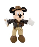 "disney parks 9"" mickey mouse as indiana jones plush toy new with tag - $30.17"