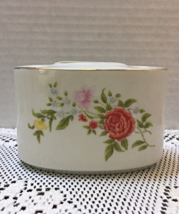 Vintage Retro Floral Design Porcelain Toothbrush Caddy Toothbrush Holder - $10.25