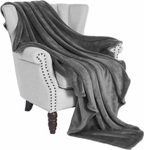 "Soft Fleece Blanket Flannel Gray Velvet 50"" x 60"" Microfiber Plush Throw - $29.00"