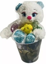Disney Frozen Easter Basket Build A Bear Lot Jewelry Bunny Ears Tin Pail... - $54.44