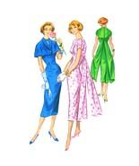 1950s Vtg McCalls Sewing Pattern 3952 Misses Sheath Cocktail Dress Cape ... - $44.95