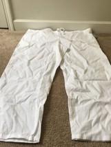 Cherokee Workwear Adult Uniform Scrub Pants Sz XL White Bottoms - $47.18