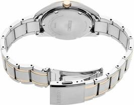 New Seiko Quartz White Dial Two-Tone Steel Bracelet Women's Watch SUR322 image 2