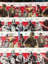 Disney STAR WARS Force Awakens Christmas Gift Wrapping Paper 20 sq ft Roll NEW - $6.40