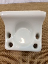 Clarke Ceramic S-202 Snow White Wall Mount usa made Soap Dish - $14.85