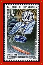 Nuovo Caledonia 1965 Space - Weather Satellite Nuovo senza Linguella Met... - $1.72