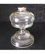 Antique EAPG Oil Lamp Base Heavy Glass with Dou... - $39.98