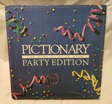 PICTIONARY Party Edition Game Dry Erase Wipe Off  2-sided Easel ~ Vintag... - $19.75