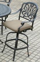 Outdoor patio bar stool swivel Elisabeth cast Aluminum furniture Bronze image 3